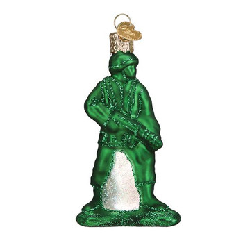 """Army Man Toy Glass Ornament, 3 3/4"""", OWC# 44144"""