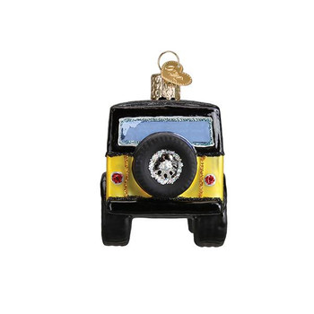 """Compact Sport Utility Vehicle Glass Ornament, 4 1/2"""", OWC# 46083"""