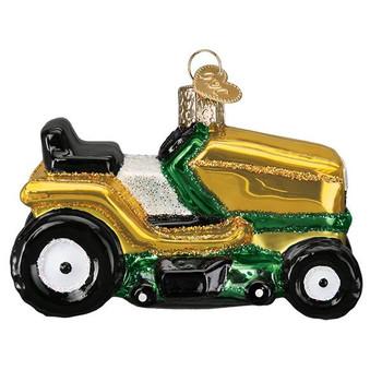 "Riding Lawn Mower Glass Ornament, 3 1/2"", OWC# 46085"