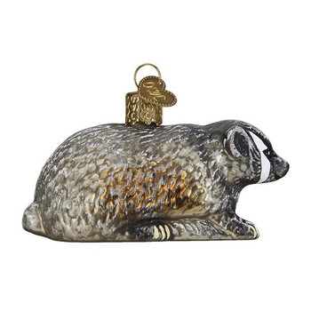 "Vintage Badger Glass Ornament, 3 1/4"", OWC# 51009"
