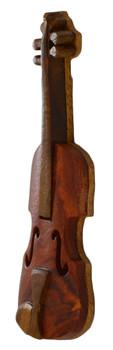 Violin Intarsia Wood Refrigerator Magnet side