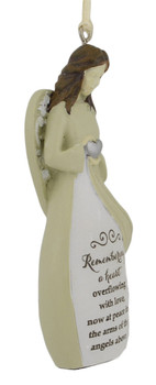 Remembering A Heart Memorial Angel Ornament right side