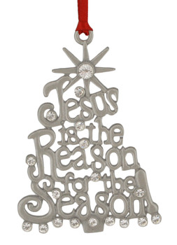 Jesus Is The Reason Metal Tree with Star Metal Ornament