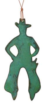 Cowboy in Chaps Copper Ornament