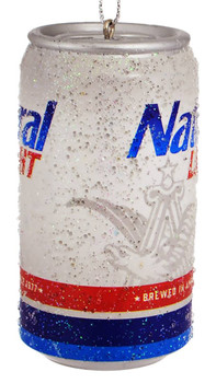 Natural Light Beer Can Ornament side