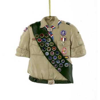 "Eagle Scout Shirt w/Badges Ornament, 3"", KABS2145"