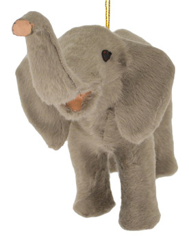Plush Safari Animal - Elephant Ornament front