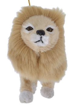 Plush Safari Animal - Lion Ornament face