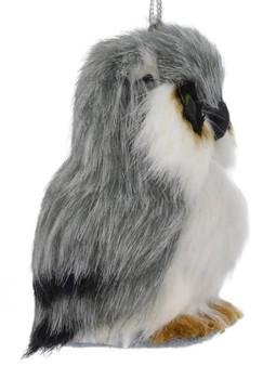 Gray Plush Animals - Owl Ornament right side