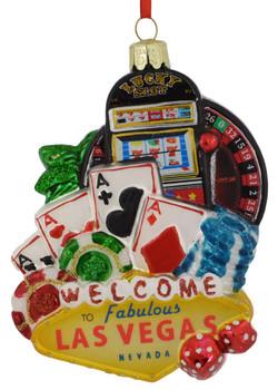 Las Vegas Casino Glass Ornament