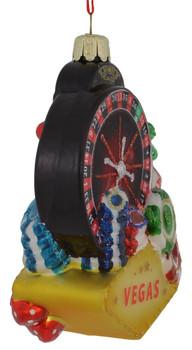 Las Vegas Casino Glass Ornament front side