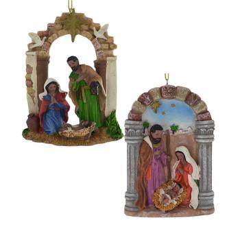 Dark Skinned - African American Nativity Ornament