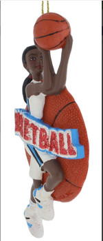 Female African American Basketball Player Ornament side