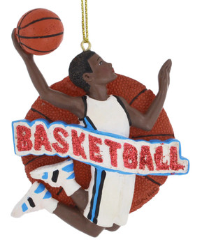 Male African American Basketball Player Ornament