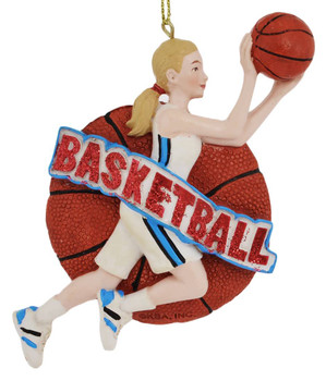 Female Basketball Player Ornament