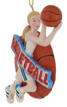 Female Basketball Player Ornament side