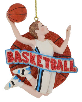 Male Basketball Player Ornament