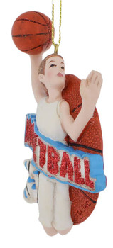 Male Basketball Player Ornament side