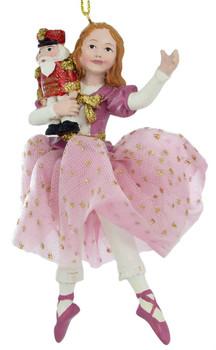 Pink Fabric Skirt Clara Ornament