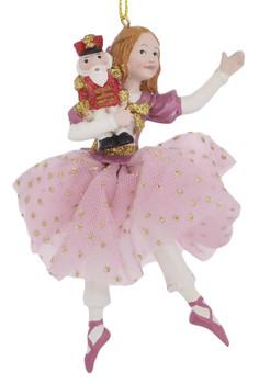 Pink Fabric Skirt Clara Ornament front