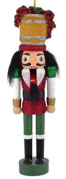 Wine Maker Nutcracker Wood Ornament open mouth
