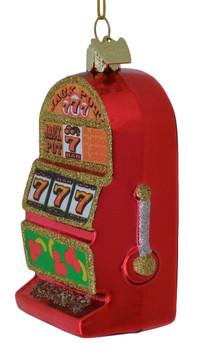 Lucky 7s Slot Machine Glass Ornament side shadow