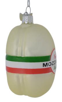 Italian Cheese Mozzarella Glass Ornament side