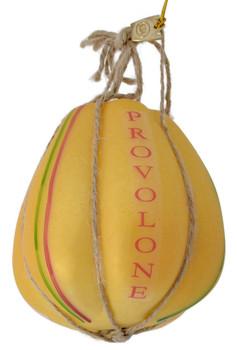 Italian Cheese Provolone Glass Ornament bottom