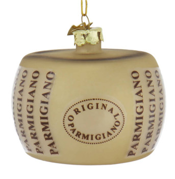 Italian Cheese Parmigiano Glass Ornament