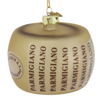 Italian Cheese Parmigiano Glass Ornament side
