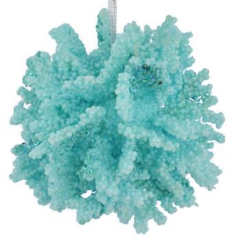 Sea Coral Ball Ornament blue