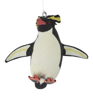 Small Rockhopper Penguin Ornament front