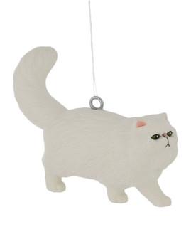Small White Persian Cat Ornament