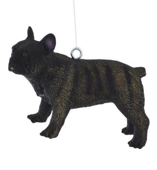 Small French Bulldog Ornament left side