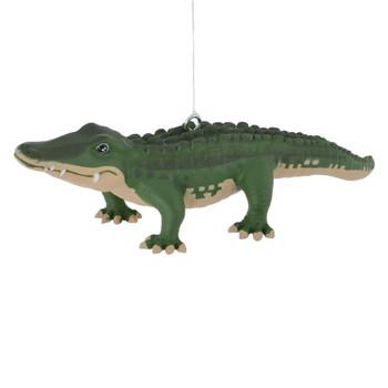 Green Alligator Ornament