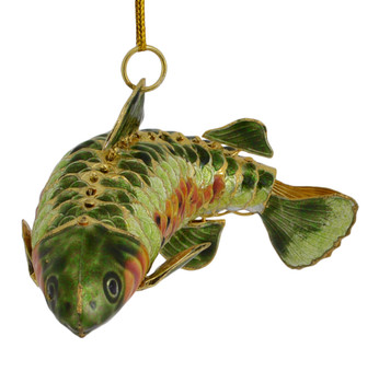 Cloisonne Long Fish Ornament front tail turned