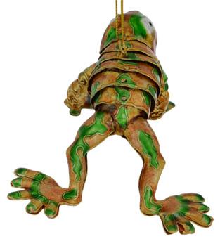 Cloisonne Frog Ornament - Golden back