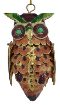 Cloisonne Owl Ornament