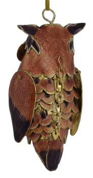 Cloisonne Owl Ornament back