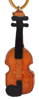 Small Leather Violin Ornament