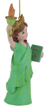 NYC Statue of Liberty Girl Ornament right side