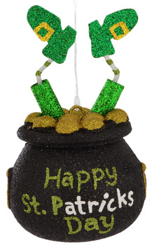 Happy St Patrick's Day Pot of Gold Ornament