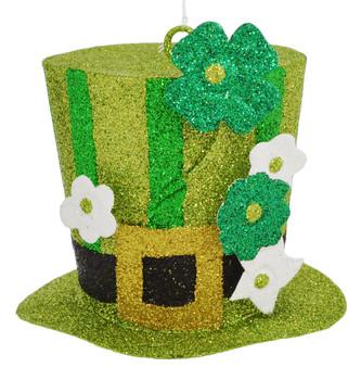 Sparkling St Patrick's Hat Ornament