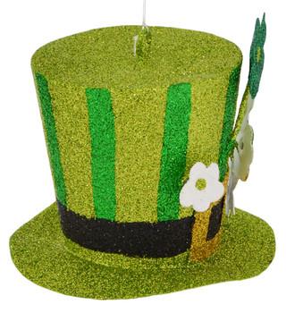 Sparkling St Patrick's Hat Ornament Side