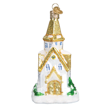 Golden Cathedral Ornament old world christmas 20105 front
