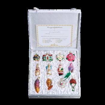 Bridal Tree 12 Glass Ornaments - Premium Boxed Wedding Set