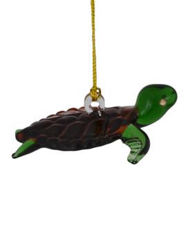 Sea Turtle Egyptian Glass Ornament