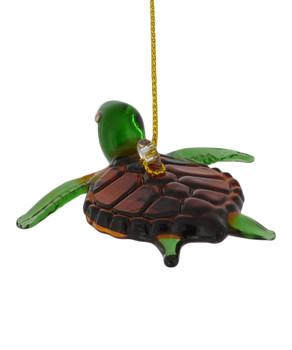 Sea Turtle Egyptian Glass Ornament back