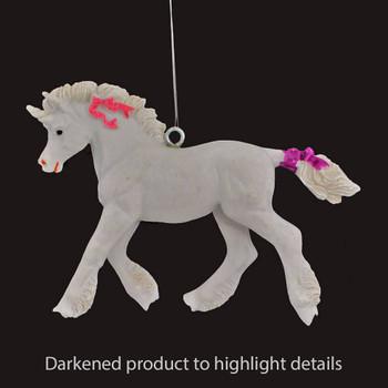 Baby Unicorn Ornament darker image
