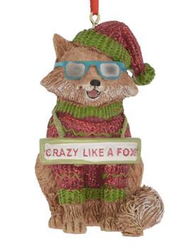 Crazy Like A Fox Ornament